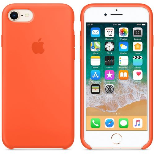 APPLE IPHONE 8 / 7 SILICONE CASE SPICY ORANGE ACCS (MR682ZM/A)