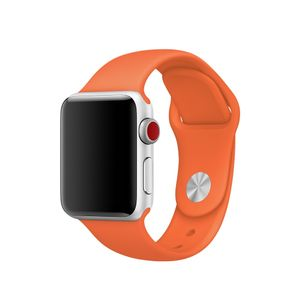 APPLE WATCH ACCS 38MM SPICY ORANGE SPORT BAND-S/ M&M/ L ACCS (MQUT2ZM/A)