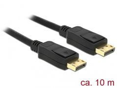 DELOCK Cable Displayport 1.2 male > Displayport male 4K 60 Hz 10 m