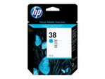 HP 38 cyan pigmentbasert original