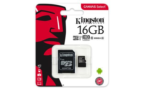 KINGSTON microsSD 16GB Canvas Select Class 10 UHS-I speed upto 80MB/s read flash card (SDCS/16GB)