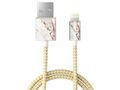 iDEAL OF SWEDEN IDEAL FASHION CABLE LIGHTNING 1 M CARRARA GOLD