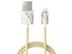 iDEAL OF SWEDEN Fashion Cable Lightning 1 m Carrara Gold