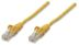 INTELLINET Network Cable RJ45, Cat5e UTP, 50 cm, yellow, 100% copper