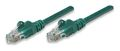 INTELLINET Network Cable RJ45, Cat5e, UTP, 50 cm, Green, 100% copper