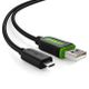 DELEYCON Contoller Charging Cable - micro USB - XB, Edition - green/ black - 10,0m
