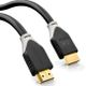 DELEYCON deleyCON HDMI 2.0 Cable 1,0m, HQ Black, HDMI V2.0, Ethernet, 4K, 2160p 60Hz