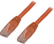 DELTACO UTP Cat.5e patchkabel 0,5m, orange (OR05-TP)