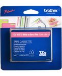 BROTHER TZ-tape / 12mm / White Text / Pink Tape (TZEMQP35)
