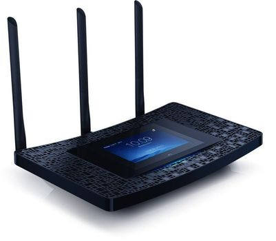 TP-LINK - AC1900 TouchScreen Wi-Fi Gigabit Router Broadcom 1GHz dual-core  CPU 1300Mbps at 5Ghz + 600Mbps at 2 4Ghz 802 11ac/ a/ b/ g/ n