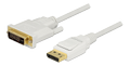 DELOCK Cable Displayport 1.2 male > DVI 24+1 male passive 3 m white