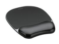 FELLOWES Crystal black mousepad & wrist rest (9112101)
