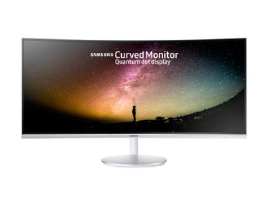 SAMSUNG C34F791 34i 21:9 Wide Curved 1500R 3440x1440 VA-LED Quantum dot 4ms 100Hz DP HDMIx2 USB 3.0x2 Glossy white silver (LC34F791WQUXXE)