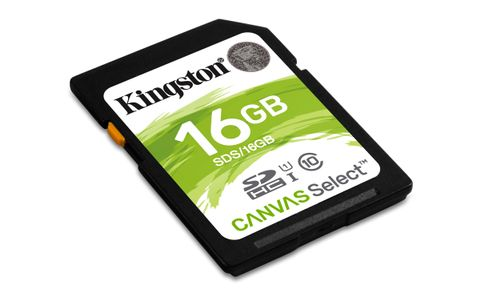 KINGSTON 16GB SD Canvas Select Class 10 UHS-I speed upto 80MB/s read (SDS/16GB)