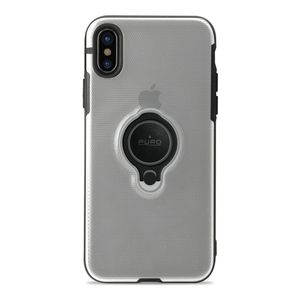 PURO iPhone Xs Max, Magnet Ring cover, transparent (IPCX65MAGRINGTR)
