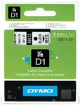 DYMO LABEL CASSETTE 9MM X 7M BLACK ON WHITE D1 TAPE (S0720680)