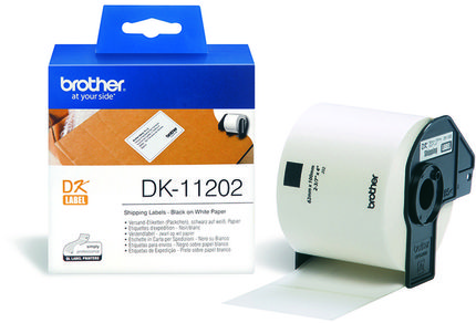 BROTHER P-Touch DK-11202 die-cut mailing label 62x100mm 300 labels (DK11202)