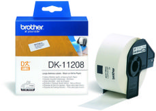 BROTHER P-Touch DK-11208 die-cut adress label big 38x90mm 400 labels