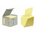 POST-IT Z-Notes Gul 76x76mm 100% genbrug Tårn m. 6 blokke