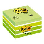 POST-IT Kubus 2028G Pastel grøn 76x76mm