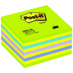 POST-IT Kubus Blå/Grøn 2028NB 76x76mm Lollipop