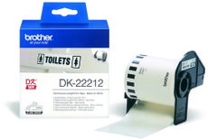 BROTHER P-Touch DK-22212 white continue length film 62mm x 15.24m