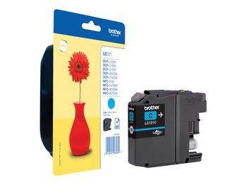 BROTHER Ink Cartridge Cyan 300 pages (LC121C)