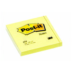 POST-IT Notes 654 Gul 76x76mm