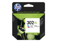 HP F6U67AE Tri-color Original Ink Cartridge No. 302 XL (F6U67AE)
