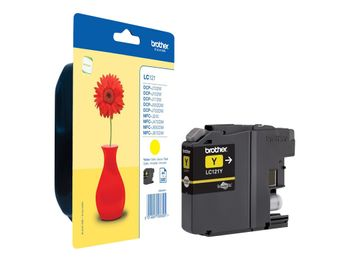 BROTHER Ink Cartridge Yellow 300 pages (LC121Y)
