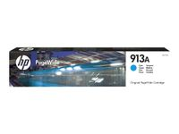 HP INK CARTRIDGE NO 913A CYAN PAGEWIDE SUPL (F6T77AE)