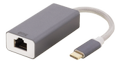 DELTACO USB C Networking GIGA Space Grey