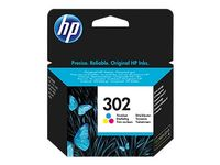 HP F6U65AE Tri-color Original Ink Cartridge No. 302 (F6U65AE)
