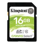 16GB SD Canvas Select Class 10 UHS-I speed upto 80MB/s read