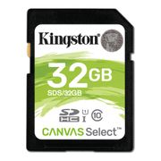 KINGSTON Flash card SD  32GB Kingston C10 Canvas Class10 UHS-I up to 80MB/s