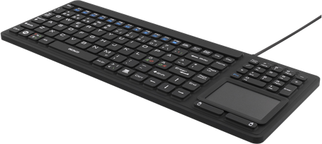 CoreParts rubberized keyboard with touch (TB-502)