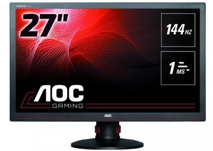 "AOC 27"" LED FreeSync G2770PF 1920x1080,  144hz, 1ms, Speakers, Pivot, VGA/ DVI/ HDMI/ DP (G2770PF)"