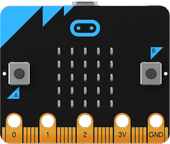 BBC Micro Micro:bit,  one-chip computer, Bluetooth,  ARM CPU, black