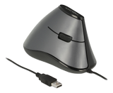 DELOCK Ergonomic vertical optical 5-button USB mouse