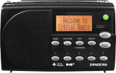 SANGEAN DAB+/FM portable radio, speaker, LCD, DC, black