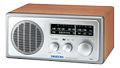 SANGEAN stationär FM/AM-radio, AUX in, walnut/silver