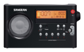 SANGEAN PR-D7 FM/AM portable receiver, 10 station presets, black