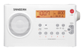 SANGEAN PR-D7 FM/AM portable receiver, 10 station presets, white