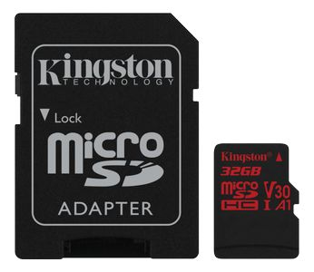 KINGSTON Flash card Micro-SD 32GB React (SDCR/32GB)