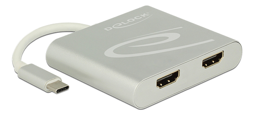 DELOCK USB Type-C™ Splitter (DP Alt Mode) > 2 x HDMI out 4K 30 Hz (87715)