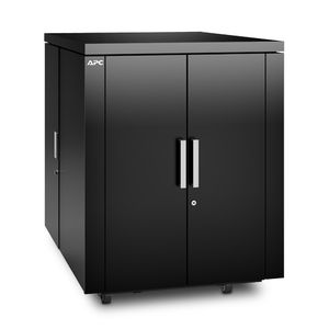 APC NetShelter CX 18U Secure Soundproof Server Room in a Box Enclosure - Shock Packaging - Black (AR4018SPX429)