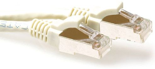 ACT SFTP Patch Cat.6A -  15 m Ivory Snagless 500MHz 26AWG PIMF (FB6015)