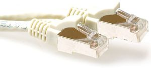 ACT SFTP Patch Cat.6A -  10 m Ivory Snagless 500MHz 26AWG PIMF (FB6010)