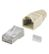 GOOBAY CAT 5e RJ45 plug shielded with Strain-Relief Boot<br>(beige) for round cable with Threader