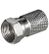 GOOBAY F-plug, Cu nickel-plated,  length 20mm, big nut<br>for cable outerø 8,2 mm, without marking ring